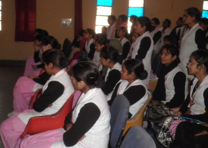 Nursing Students at the Training held in Asha Kiran